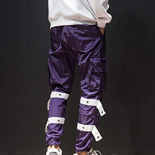 Total Secado a Montar Multibolsillos Logobeing Polyeste Jogging Trabajo de Caballo Hombre Chandal Deporte Morado Pantalones De Pantalones Hombre Pantalones xZz4vq