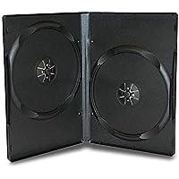Progo 50 Pack Standard Black Double DVD Cases 14MM