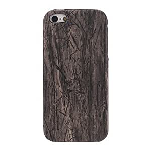Wood Grain PC Hard Case for iPhone 5/5S (Assorted Colors) ( Color : Yellow )