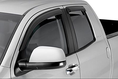 IN-CHANNEL VENT SHADE WINDOW VISOR 4PC 04-12 CHEVY COLORADO/GMC CANYON CREW CAB