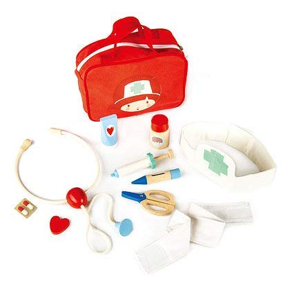 12 Pc Medical Bag Set - Doctor and Nurse Pretend Play Toy Medical Kit - Made with Premium Quality Materials - Promotes Imaginary and Creative Roleplay, Helps to Create Health Awareness - Ages 3+
