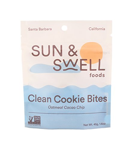 Sun & Swell Foods Clean Cookie Bites (6 Snack Packs): Oatmeal Cacao Chip; Healthy Snacks - Organic, Vegan, Gluten Free, and made with Whole Food Ingredients by SUN & SWELL FOODS