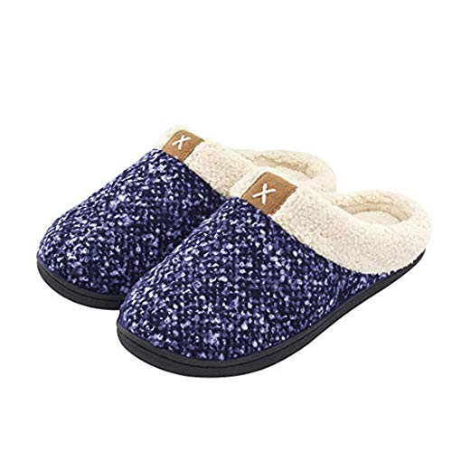 DoGeek Cozy House Slippers Women's Comfort Memory Foam Slippers Fuzzy Wool Plush Slip-On Clog House Shoes for Indoor Outdoor