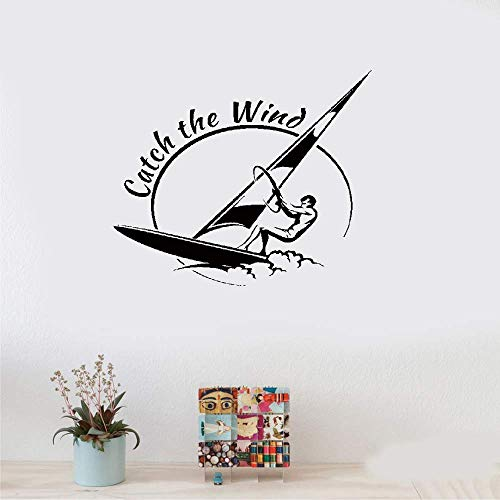 Perauz Wall Stickers Inspiring Quotes Home Art Decor Decal Mural Sports Catch The Wind Surf Wave Title