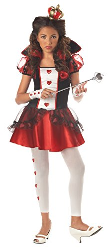 Alice Queen Of Hearts Costumes (California Costumes Tween Queen Of Hearts Costume,Red/Black/White)