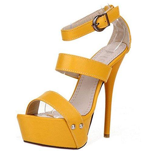 Piattaforma Yellow Zanpa a Spillo Tacco Donna Sandali Tacco Mode Cw1xqAwH0