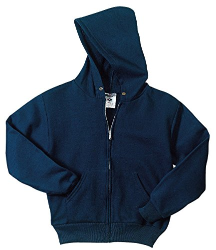 Blue Zip Hoodie (Jerzees mens 8 oz. 50/50 NuBlend Fleece Full-Zip Hood(993)-J NAVY-L)