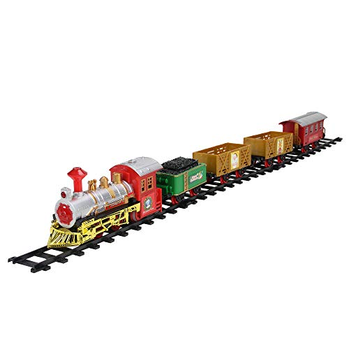 Train Animated - Northlight 16-Piece Battery Operated Lighted and Animated Christmas Express Train Set with Sound
