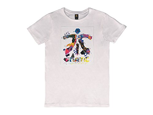 Fnatic Crew Neck Tee, Multi Color, White