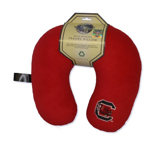 World's Best NCAA Feather-Soft Microfiber Neck Pillow, South Carolina Fighting Gamecocks