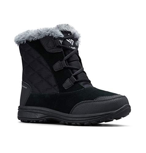 Columbia Women's ICE Maiden Shorty Snow Boot, Black, Grey, 10.5 Regular US