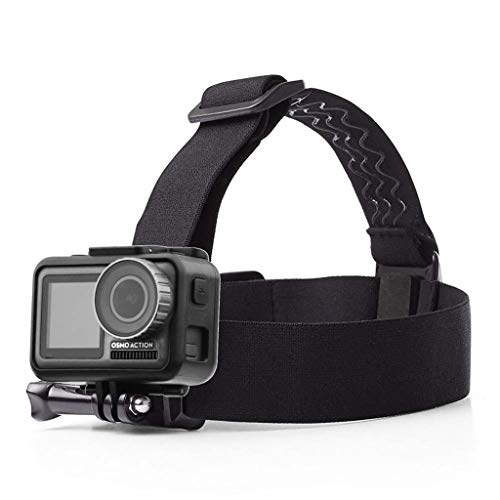 Lovewe Head Strap Mount Belt Headband Holder For DJI OSMO Action For GoPro Hero Camera On Surfing, Skiing, Skateboarding, Riding Bicycle/ Motorcycle (Best Gopro Camera For Skiing)