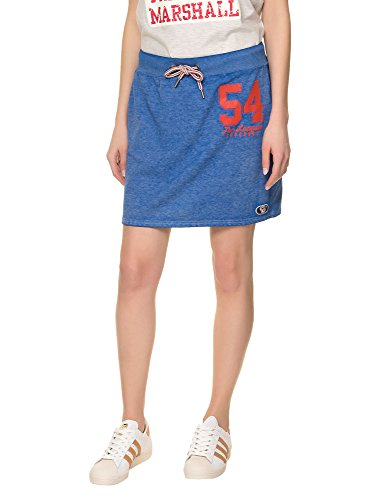 Superdry Women's Tri League Sweat Women's Blue Skirt 100% Polyester Blue