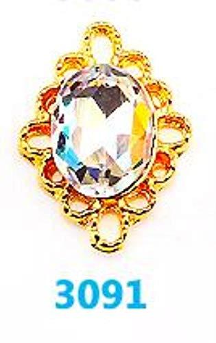 (10pcs Crystal strass nagel decorative nail art rhinestones alloy 3d glitter nail jewelry manicure accessories (3091) - Rhinestones)