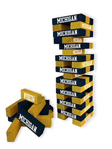 Wild Sports NCAA College Michigan Wolverines Table Top Stackers Game