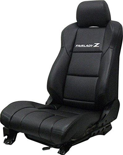 RealSpeed フェアレディZ33用レザーシートカバー(新作ブラック)専用設計 電動シート用 B00Y7SF2VS