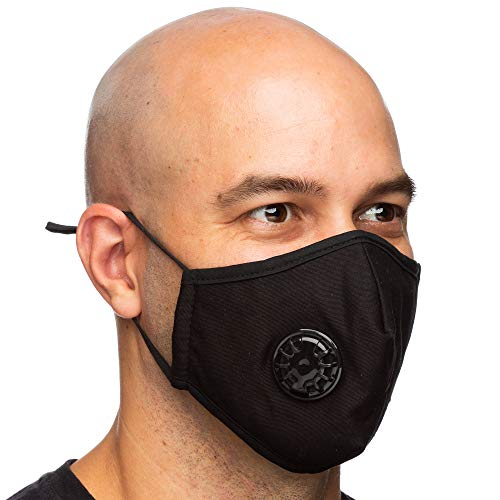 Debrief Me Dust Mask - Anti Pollution Breathable Respirator Mask (1 Mask + 6 Filters) Military Grade N99 Flu Mask Carbon Activated Filtration - Reusable Washable - Comfy Cotton Adjustable(Black)