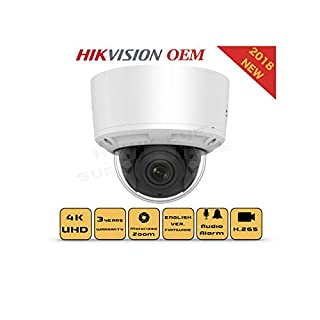 4K PoE Security IP Camera - Compatible with Hikvision DS-2CD2785G0-IZS UltraHD 8MP Vari-Focal EXIR Dome Onvif Weatherproof 2.8-12mm Motorized Lens Best Home Business Security 3 Year Warranty