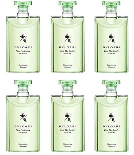 Bvlgari Au The Vert (Green Tea) Shampoo, 15 Ounces Total - Set of 6, 2.5 Ounce Bottles (Bulgari De)