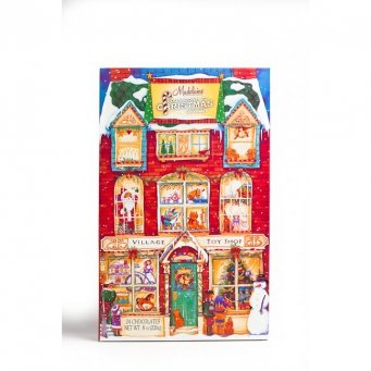 Christmas Toy Shop Advent Calendar with Solid Milk Chocolate Presents