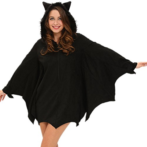 [BYY All in Black Bat Adult Costume(Size,S)] (South Pacific Costumes)