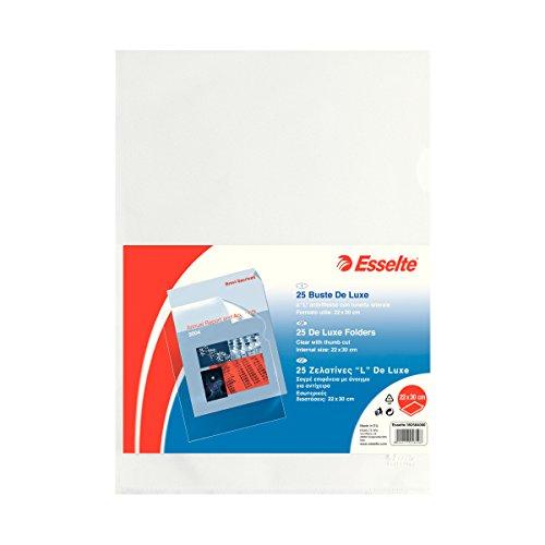 Formato 22 x 30 cm Foglio in PP antiriflesso Esselte Buste aL Copy Safe De Luxe Porta documenti 395484000 Trasparente Confezione da 100 buste