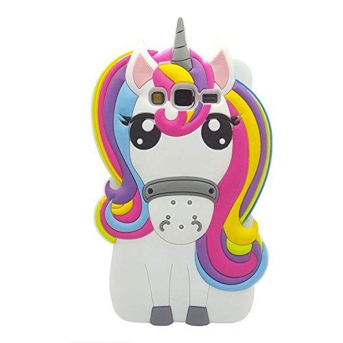 Samsung G530 Case,Samsung J2 Prime Case,Awin 3D Cute Cartoon Rainbow Unicorn Horse Animal Soft Silicone Rubber Case For Samsung Galaxy Grand Prime G530/J2 Prime/Grand Prime Plus G532(Rainbow Unicorn)