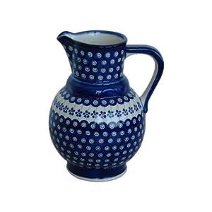 Boleslawiec Pottery Milk and water jug, 1.75L, Original Bunzlauer Keramik, Decor 166a