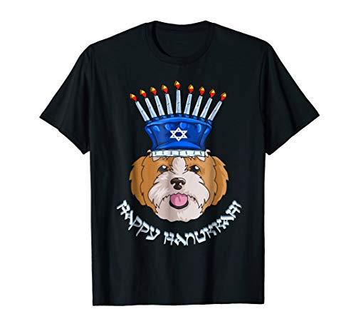 Shih Tzu Menorah Hat T-Shirt Hanukkah Chanukah Shirt