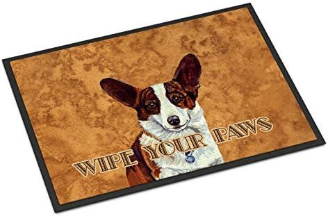 Caroline s Treasures LH9451JMAT Cardigan Corgi Wipe Your Paws Indoor or Outdoor Mat 24×36, 24H X 36W, Multicolor