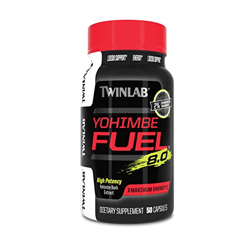 Twinlab Yohimbe Fuel Diet Supplement Capsules, 50 Count -