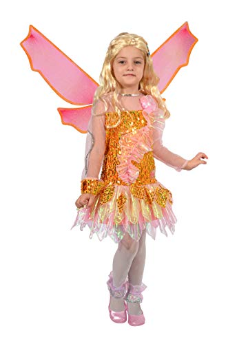 (Ciao Stella Tynix Conformation Costume Winx Club Girl, 4-6 Years, Orange, Pink, 11237.4-6)