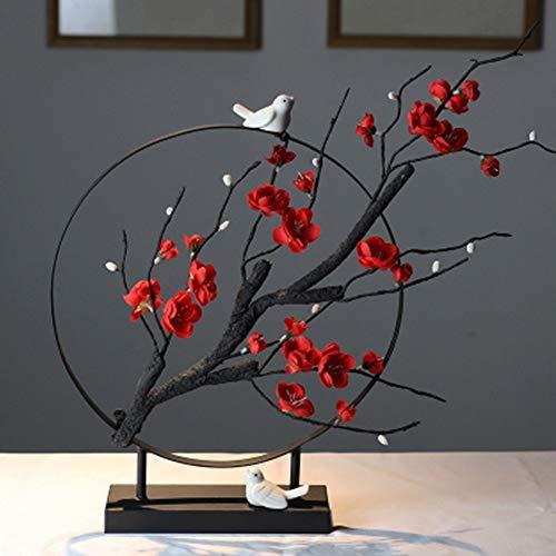 Xianw Flor De Ciruelo Decoraciones Artisticas, Decoracion del Hogar DIY Decoracion Artistica, Mesa De Te Bogu Decoracion del Dormitorio,B