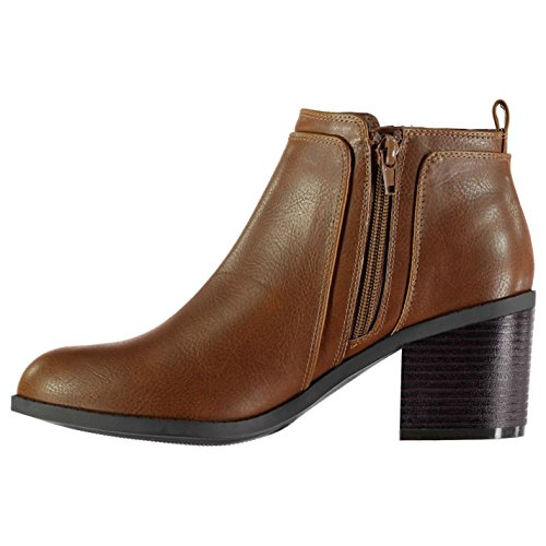 Zipped Ankle Rossini Heeled Tan Zip Miso Womens Flat Boots XFEnw5AUxq