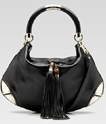 816cd99f657e Amazon.com: Gucci 'Indy' black medium top handle bag: Clothing