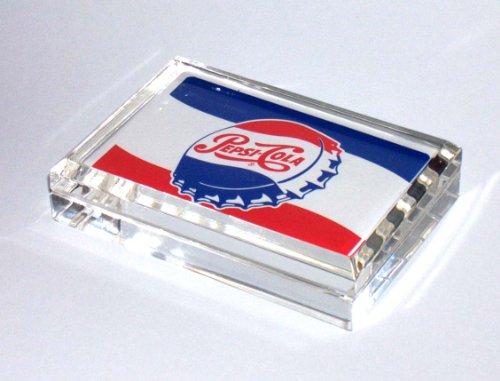 (Vintage Pepsi Cola Cap ad style desktop paperweight)