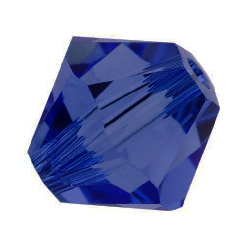 Swarovski Crystal, #5328 Bicone Beads 4mm, 24 Pieces, Dark (Swarovski Dark Sapphire)