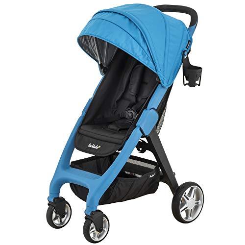 Larktale Chit Chat Compact Lightweight Travel Stroller, Freshwater Blue