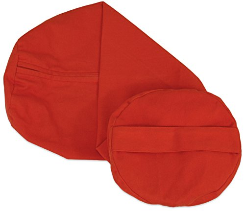 YogaAccessories Cover for Round Cotton Yoga Bolster - Cardinal Red
