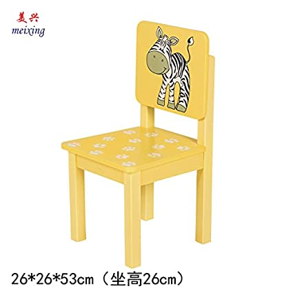 Amazon.com: Stool Dana Carrie Child Care baby small chair children chair children chair solid wood and chairs nursery chair cartoon, Zebra 2PCS: Home & ...