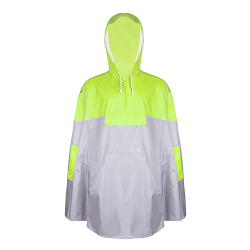 Balnna Rain Poncho with Hoods and Zipper Waterproof Raincoat for Outdoor Activities-Green by Balnna