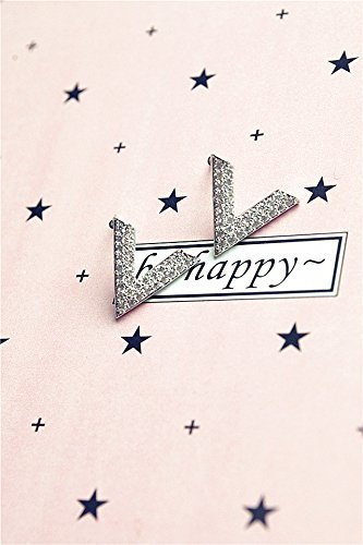 Generic S925 Silver Needle simple word diamond earring Europe and America Triangle