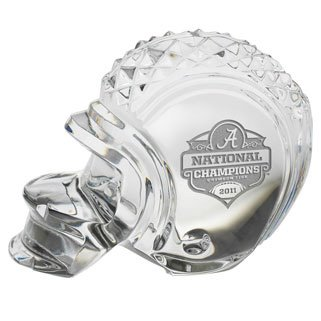 Waterford Football Crystal (Waterford Crystal Collectibles 2011 Bcs Champions Alabama Crimson Tide Helmet)
