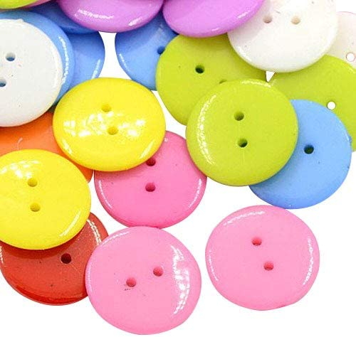 Sew Through Buttons 3mm Multi-coloured 50 Pack Approx