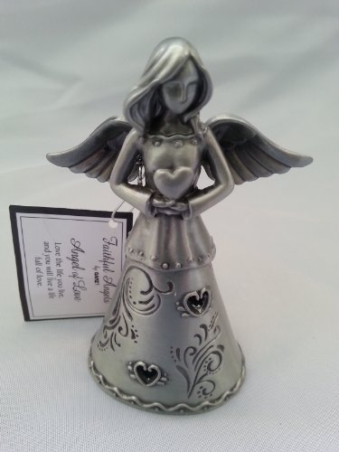 Angel of Love - Faithful Angels Pewter Angel Figurine - In Gift Box (Figurines And Statues Angel)