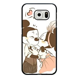 Galaxy S6 Edge Case, Customized Black Hard Plastic Galaxy S6 Edge Case, Disney Cartoon Mickey Mouse Galaxy S6 Edge Case(Not Fit Galaxy S6)