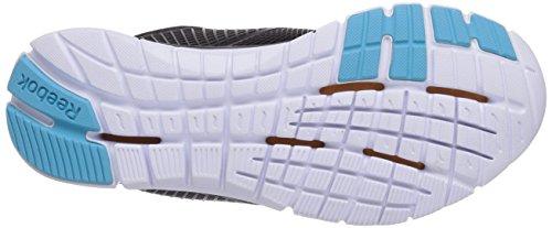 Reebok ZQuick Dash - zapatillas de running de material sintético unisex negro - Schwarz (Black/Blue Pool/White)