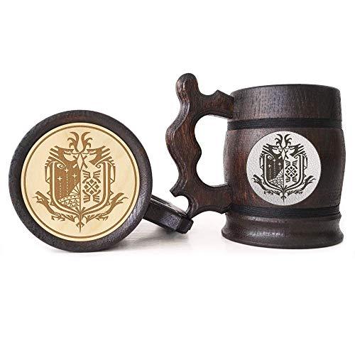 Monster Hunter World Beer Mug, MHW Beer Stein, Gamer Gift, Personalized Beer Stein, Monster Hunter Tankard, Custom Gift for Men, Gift for Him