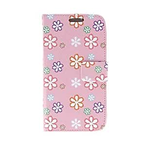 Mini - Kinston Cartoon Six Petals Pattern PU Leather Full Body Case with Stand for Samsung S4 I9500
