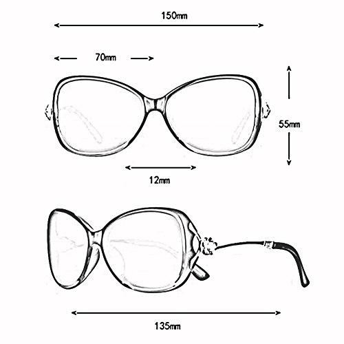 Ultraligero Cara Redonda 4 4 Harajuku TR Polarizada Hembra Sol UV De xin WX Color Mosaico Gafas Retro Gafas Estilo Luz Anti Diamante 7xAcfPz